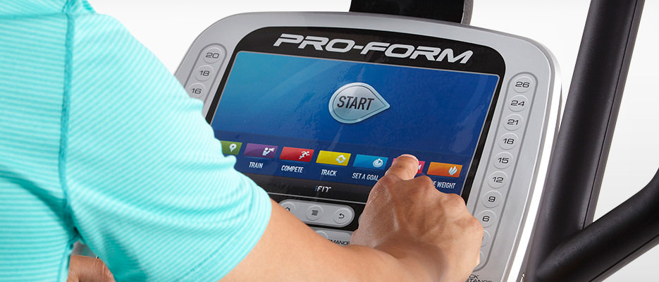 proform 16.9 elliptical review - console