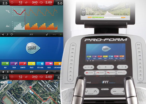 proform 12.9 elliptical review - console with ifit live